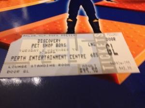 Pet Shop Boys ticket